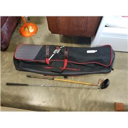 PING DRIVER, VINTAGE PUTTER, AND TAYLORMADE BAG COVER
