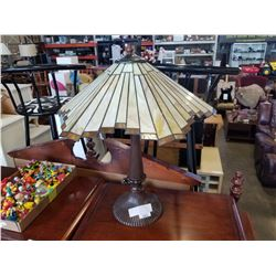LEADED GLASS VINTAGE TABLE LAMP