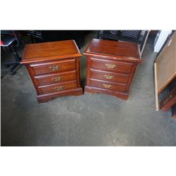 PAIR OF 2 DRAWER NIGHTSTANDS AND QUEEN SIZE HEADBOARD