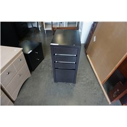 4 DRAWER ROLLING END TABLE