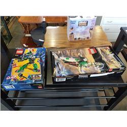 2 SEALED STARWARS LEGO SETS 7144 AND 7104, AND OPEN BOX LEGO SET 6862