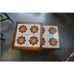 TILE TOP NESTING TABLES