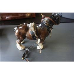 VINTAGE PORCELAIN HORSE