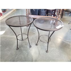 2 IRON PATIO TABLES