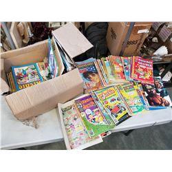 BOX OF VINTAGE COMICS - ARCHIE, RICHIE RICH, GOLDEN KEY