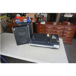 SONY EX-2M RECORD PLAYER 8 TRACK STEREO TAPECORDER W/ 2 SPEAKERS