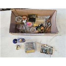 TRAY OF WATCHES,  COLLECTIBLES AND PERFUMES