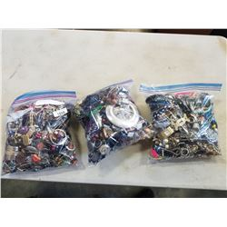 3 LARGE BAGS OF JEWELLERY