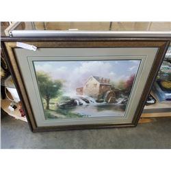 THOMAS KINKADE BLESSINGS OF SUMMER LIMITED EDITION LITHOGRAPH PRINT 1921/4850 WITH APPRAISAL AND COA