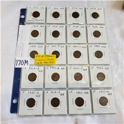 20 DIFFERENT USA LINCOLN HEAD CENTS 1910-1937