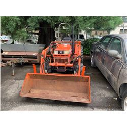 KUBOTA B2150 FRONT END LOADER HOUR METER READS 2577 HRS  (HOURS NOT VERIFIED)