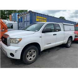 2007 TOYOTA TUNDRA SR5 IFORCE, 2DR PU, WHITE, VIN # 5TBBT54197S454358