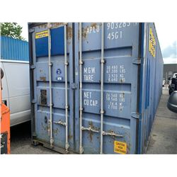 40' HIGH CUBE BLUE COMMERCIAL SHIPPING CONTAINER