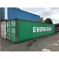 40' STANDARD GREEN COMMERCIAL SHIPPING CONTAINER