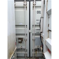 40' STANDARD WHITE COMMERCIAL SHIPPING CONTAINER