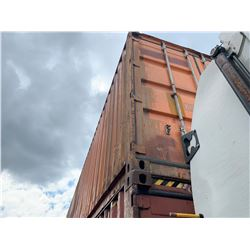 40' STANDARD ORANGE COMMERCIAL SHIPPING CONTAINER