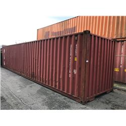 40' STANDARD BROWN COMMERCIAL SHIPPING CONTAINER
