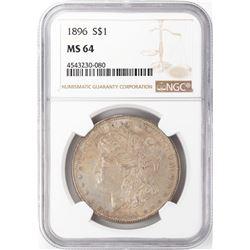 1896 $1 Morgan Silver Dollar NGC MS64