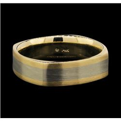 14KT Two Tone Gold Mens Wedding Band