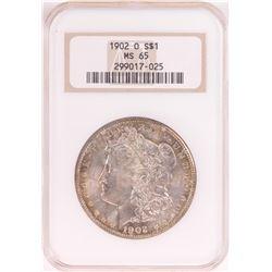 1902-O $1 Morgan Silver Dollar Coin NGC MS65 Old Holder