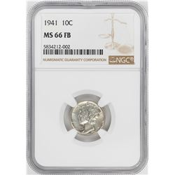 1941 Mercury Dime Coin NGC MS66FB