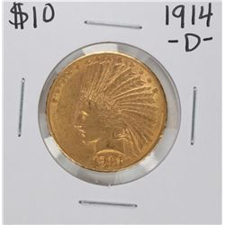 1914-D $10 Indian Head Eagle Gold Coin