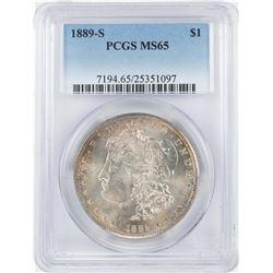 1889-S $1 Morgan Silver Dollar Coin PCGS MS65