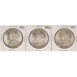 Lot of 1885-1887 $1 Morgan Silver Dollar Coins
