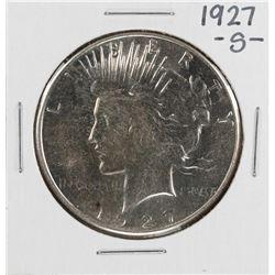 1927-S $1 Peace Silver Dollar Coin