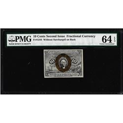 1863 10 Cent Second Issue Fractional Currency Note Fr.1244 PMG Ch. Uncirculated 64EPQ