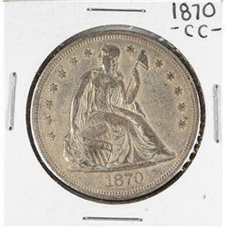 1870-CC $1 Seated Liberty Silver Dollar Coin