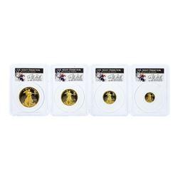 (4) Coin 1994-W American Gold Eagle Set PCGS PR69DCAM