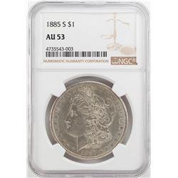 1885-S $1 Morgan Silver Dollar Coin NGC AU53