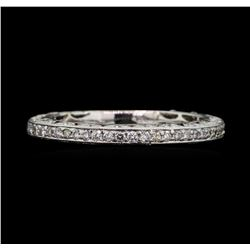 14KT White Gold 0.80 ctw Diamond Wedding Band