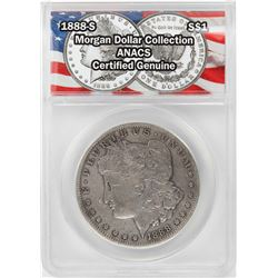 1888-S $1 Morgan Silver Dollar Coin ANACS Certified Genuine