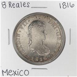 1816 Mo Mexico 8 Reales Silver Coin