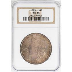 1885 $1 Morgan Silver Dollar Coin NGC MS65