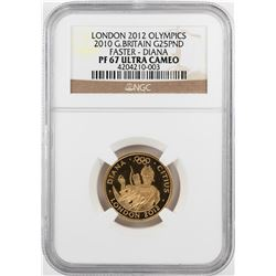 2010 Great Britain 25 Pounds Olympics Commemorative Gold Coin NGC PF67 Ultra Cameo