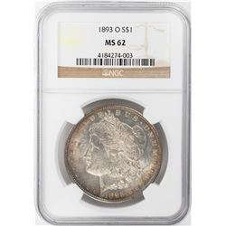 1893-O $1 Morgan Silver Dollar Coin NGC MS62