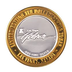.999 Silver Flamingo Hilton Las Vegas, Nevada $10 Casino Limited Edition Gaming Token