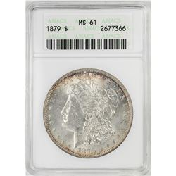 1879 $1 Morgan Silver Dollar Coin ANACS MS61