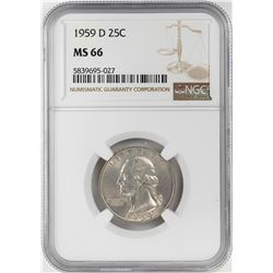 1959-D Washington Quarter Coin NGC MS66