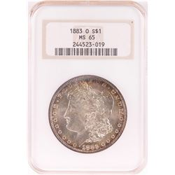 1883-O $1 Morgan Silver Dollar Coin NGC MS65 Nice Toning Old Holder