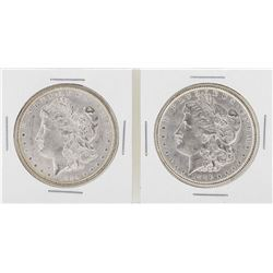 Lot of (2) 1884 to 1886 $1 Morgan Silver Dollar Coins