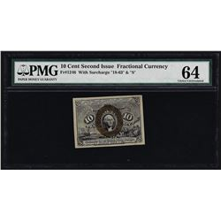 March 3, 1863 Ten Cent Second Issue Fractional Note PMG Choice Uncirculated 64