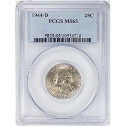 1944-D Washington Quarter Coin PCGS MS65