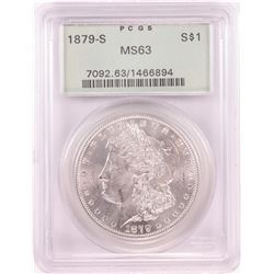 1879-S $1 Morgan Silver Dollar Coin PCGS MS63 Old Green Holder