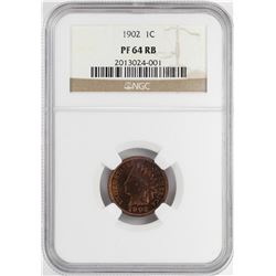 1902 Proof Indian Head Cent Coin NGC PF64 RB