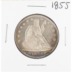 1855 Arrows Seated Liberty Half Dollar Coin