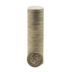 Roll of (50) Brilliant Uncirculated 1951-D Roosevelt Dime Coins